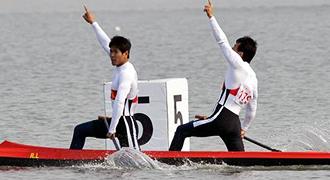 [组图]-男子双人划艇500米决赛 广东队夺得冠军