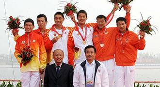 [视频]-男子双人皮艇500米决赛 解放军队夺金牌