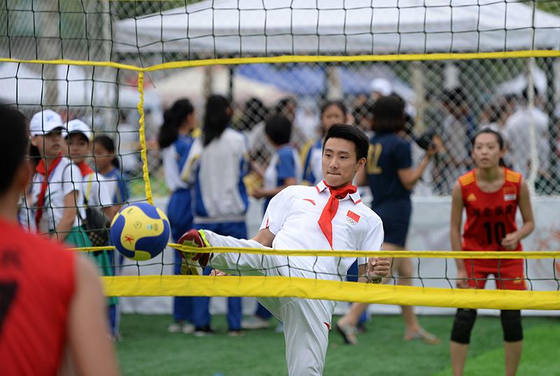组图-2016青少年阳光体育大会 运动乐园启动仪式