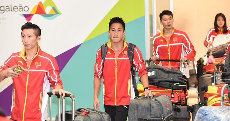 杨树安、蔡振华率中国体育代表团团部抵里约