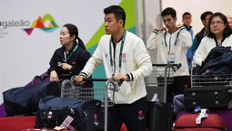 中国香港代表团抵达里约