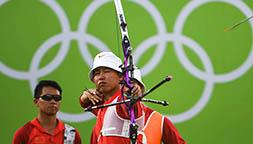 中国队获射箭男团第四名
