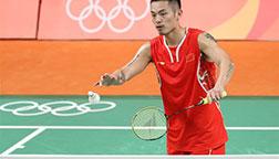 里约奥运会羽毛球小组赛:林丹获胜