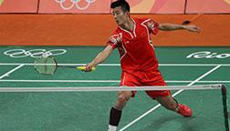 里约奥运会羽毛球小组赛:谌龙获胜