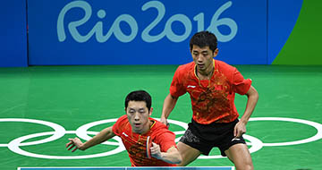 乒乓球:中国男团晋级决赛