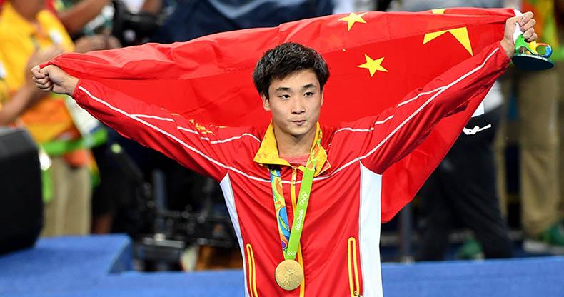 曹缘夺得男子三米板决赛冠军