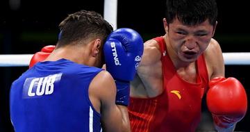 拳击男子56公斤级:张家玮无缘四强