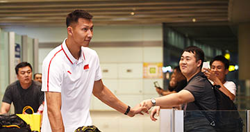 中国男子篮球队回国