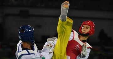 跆拳道男子58公斤级:赵帅晋级决赛