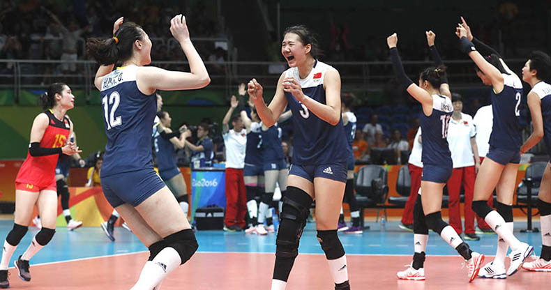 中国女排战胜荷兰挺进决赛
