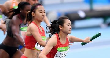 中国队晋级女子4x100米接力决赛