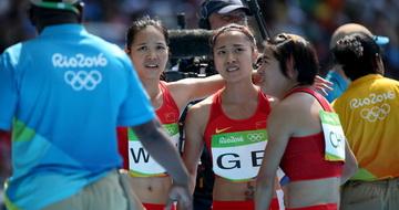 中国队无缘女子4x100米接力决赛