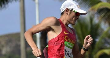王振东获得男子50公里竞走第十名