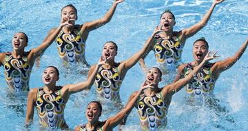 花样游泳集体自由自选决赛