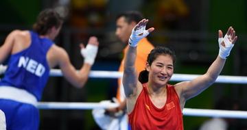 拳击女子69-75公斤级:李倩获得铜牌