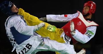 跆拳道男子80公斤以上级:乔森不敌乌兹别克斯坦选手