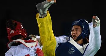 跆拳道女子67公斤以上级:郑姝音挺进决赛