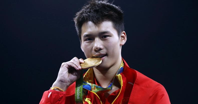 跳水男子10米台:陈艾森夺金