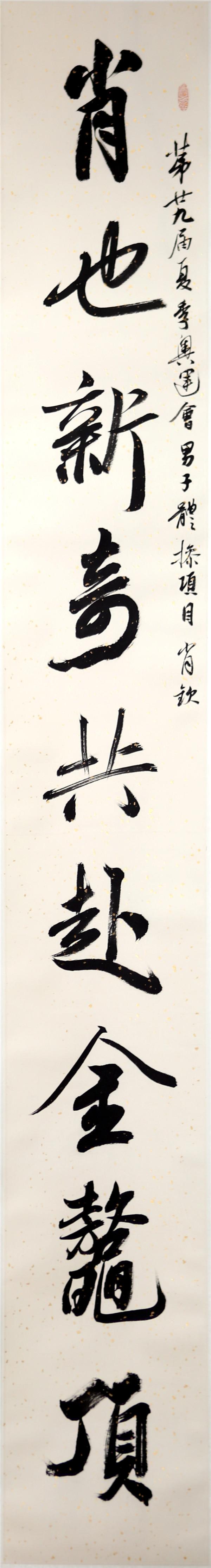 序号353,书录徐俊杰为江苏奥运冠军肖钦嵌名联