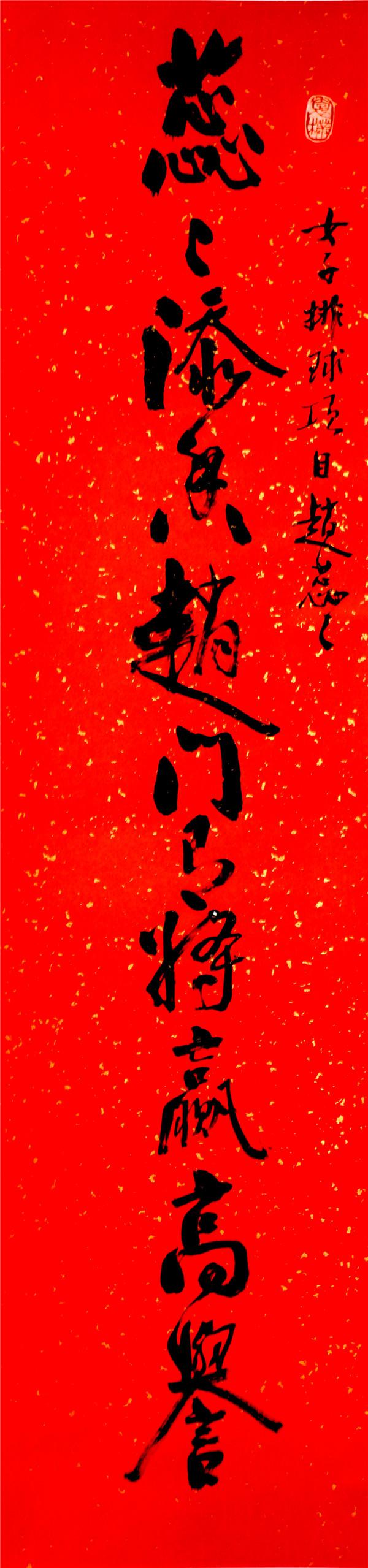 序号358,书录渠芳慧为江苏奥运冠军赵蕊蕊嵌名联
