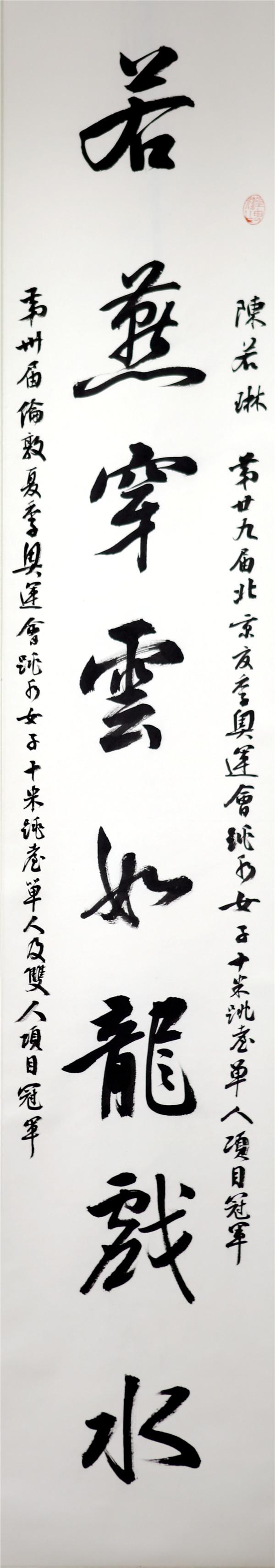 序号364,录舒贵生为江苏奥运冠军陈若琳嵌名联