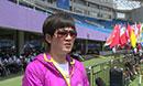 奥运冠军张娟娟观战世界