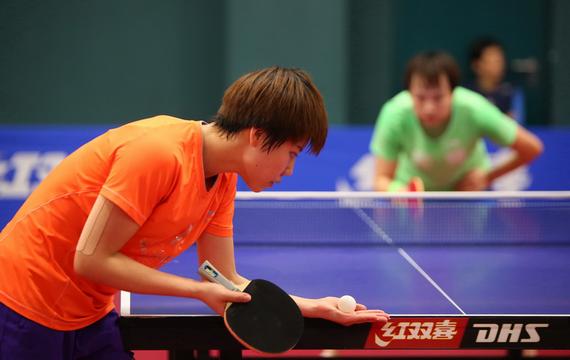 国乒女一队展开队内循环赛 朱雨玲因脚伤未参加