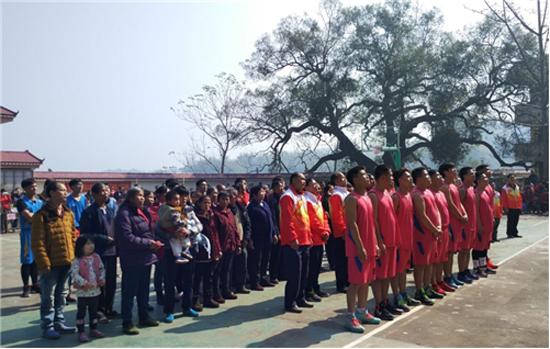 广西体育局在帮扶贫困村举办2017年春节农民运动会