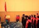 第八届亚冬会中国体育代表团举行升旗仪式