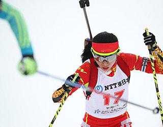 亚冬会冬季两项女子7.5公里竞速赛张岩摘银