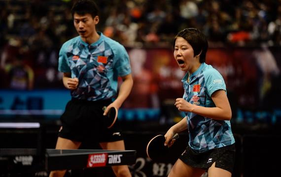 亚锦赛中国队男女单保持全胜 周雨陈幸同进混双决赛