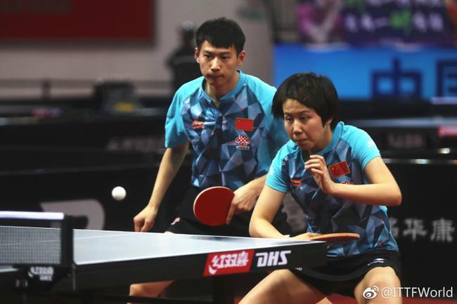 亚锦赛四局力克日本组合 周雨陈幸同夺混双冠军