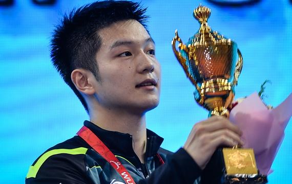 亚洲乒乓球锦标赛 樊振东3-0丁祥恩成功卫冕