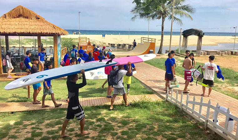全国青少年冲浪训练营第二日 实战训练正式开始