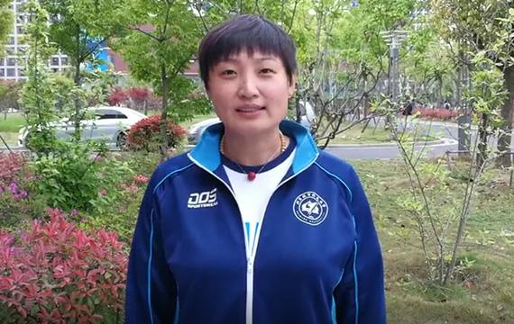 雅典奥运会冠军杨昊为汉丰湖国际半程马拉松赛送祝福