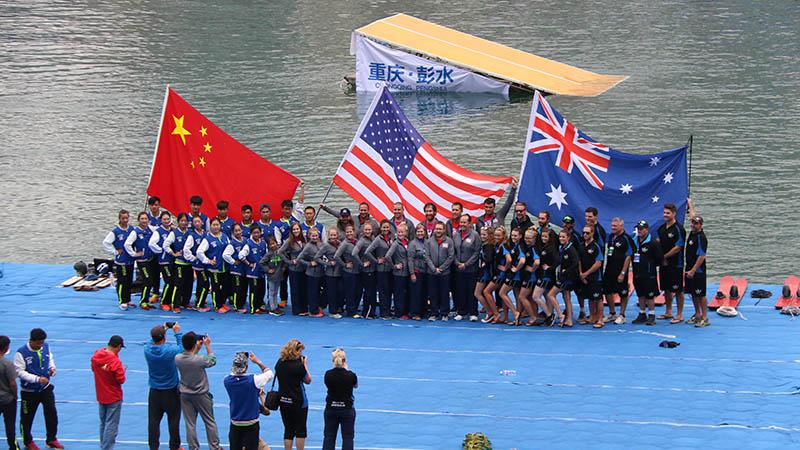 水上运动绽放激情 中美澳艺术滑水精英赛开战