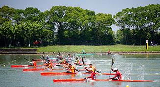 [组图]-第十三届全运会皮划艇静水项目预赛开赛