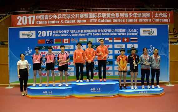 国际乒联青少年巡回赛 中国队包揽团体冠军
