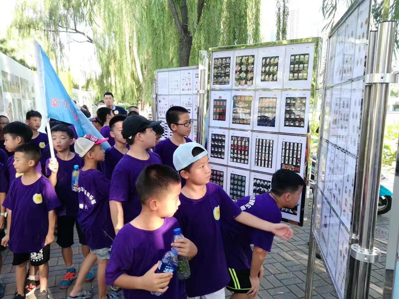 全民健身日 中国体育与奥林匹克徽章展吸睛