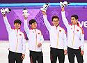 男子5000米接力:中国队获银牌