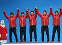 男子5000米接力颁奖仪式
