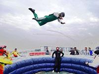 国际航联世界飞行者大会飞行表演在武汉