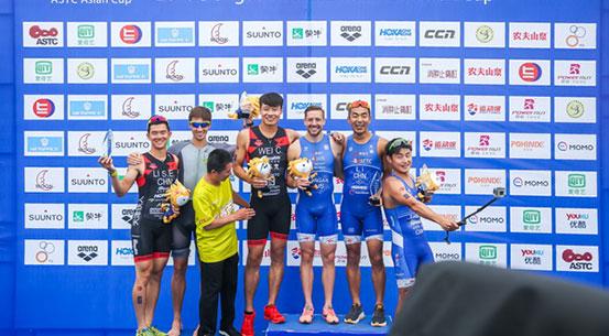 中国铁人三项联赛东戴河站 大师组男女冠军成功卫冕