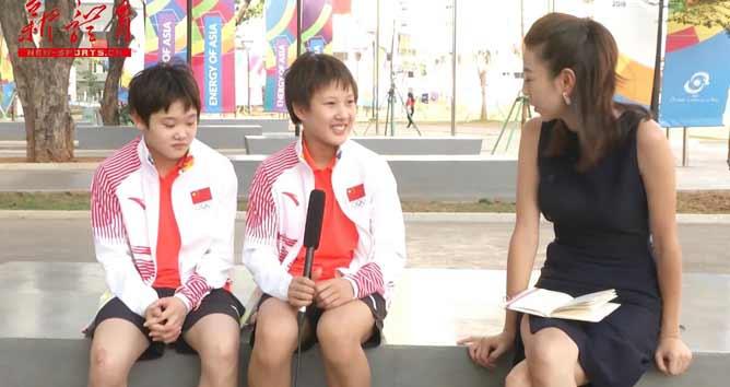 [亚运声音]女子双人十米台冠军张家齐/掌