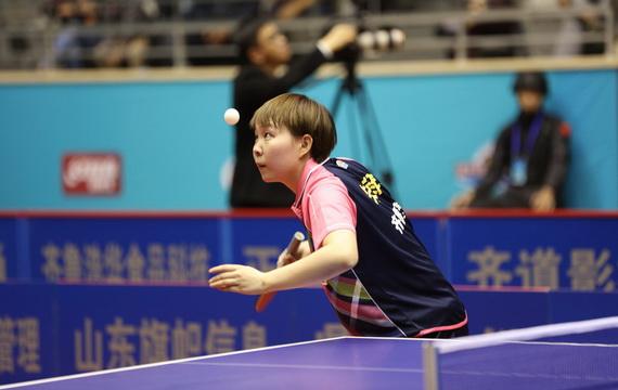 乒超联赛第二轮 齐鲁交通3-2力克深圳大学