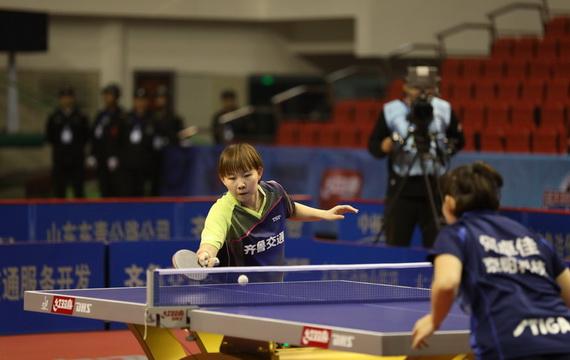 乒超联赛第四轮:齐鲁交通主场3-1力克鸿安·京阳