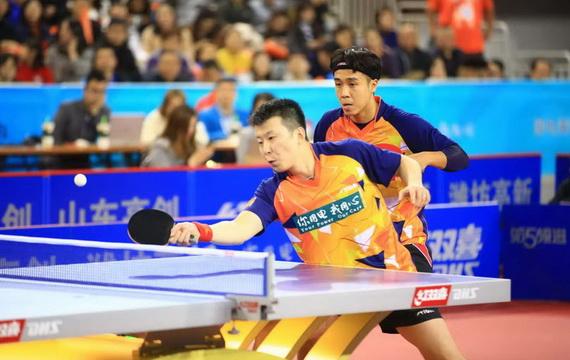 乒超联赛第五轮:鲁能男队主场3-2胜江苏中超电缆