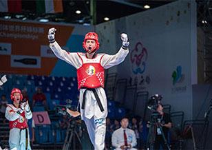 跆拳道團體世界杯中國隊1金3銀1銅