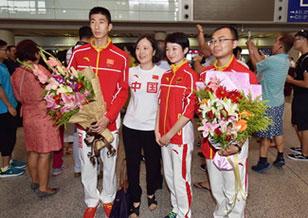 中國跆拳道隊回國