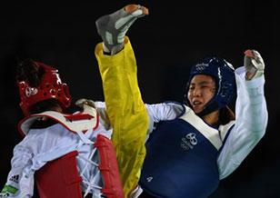 跆拳道女子67kg郑姝音挺进决赛